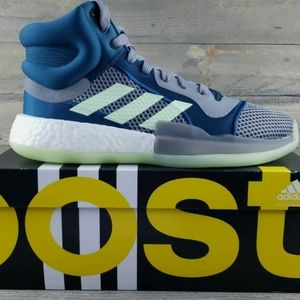 adidas Marquee Boost Basketball Shoes Teal/Grey